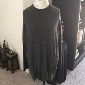 Mock Neck High Low Tunic Top